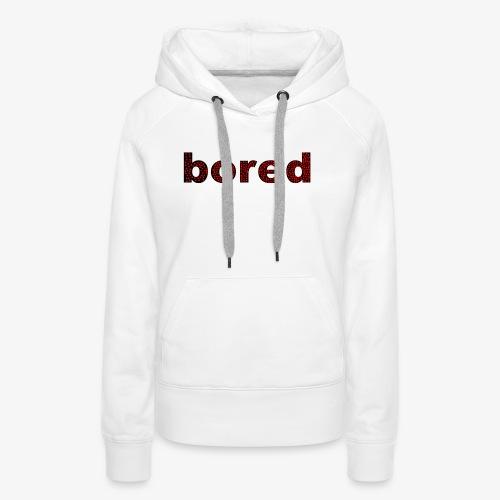 Bored Design rote Punkte auf Schwarz - Frauen Premium Hoodie