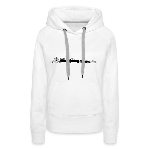 evolution of vechicles - Vrouwen Premium hoodie