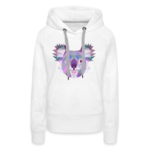 Triangle vector koala - Felpa con cappuccio premium da donna