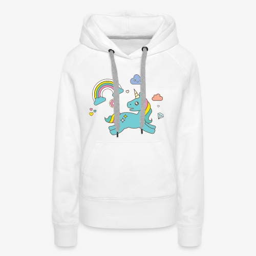 colored unicorn - Women's Premium Hoodie