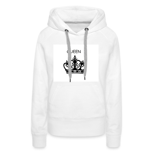 QUEEN CROWN - Sweat-shirt à capuche Premium pour femmes