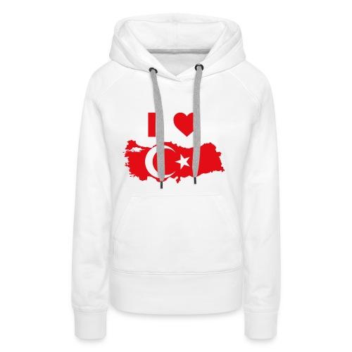 I LOVE TURKEY - Vrouwen Premium hoodie