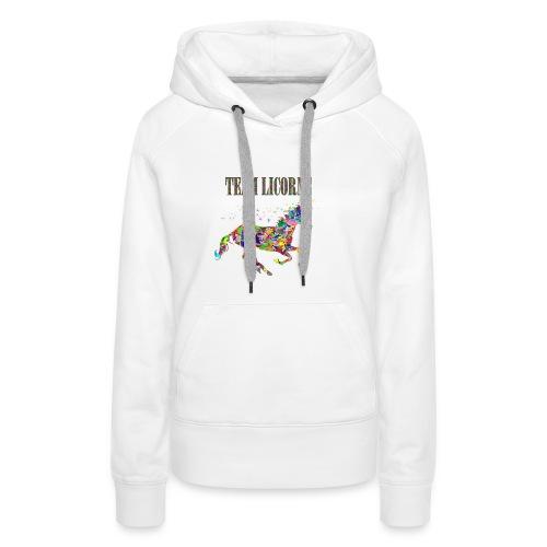 Team Licorne - Sweat-shirt à capuche Premium pour femmes