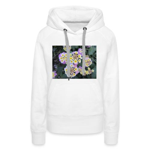 Flower power Nº8 - Sudadera con capucha premium para mujer