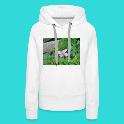 shirt bloem - Vrouwen Premium hoodie