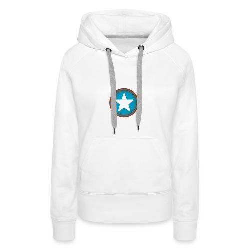 Étoile américaine. - Sweat-shirt à capuche Premium pour femmes