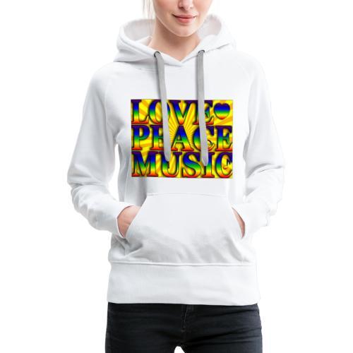 Love Peace and Music - Women's Premium Hoodie