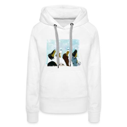 NMASK-trøye med kunsttrykk malt av Tanja Vean - Premium hettegenser for kvinner