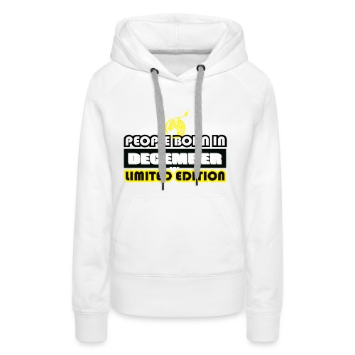DECEMBER CRAZY LEGEND - Women's Premium Hoodie