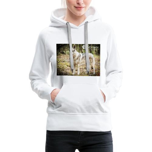 La Tanière des chiens-loups - Sweat-shirt à capuche Premium pour femmes