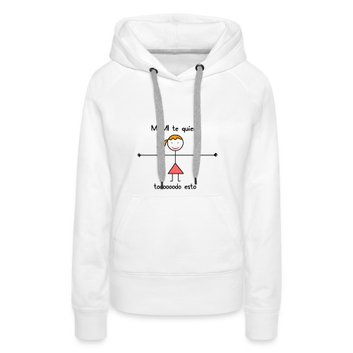 mami-png - Sudadera con capucha premium para mujer