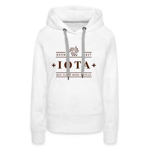 Iota Buy Sleep Hodl Repeat - Frauen Premium Hoodie