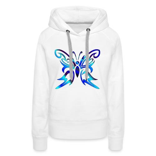 Tribal Weiss- Schmetterling - Frauen Premium Hoodie