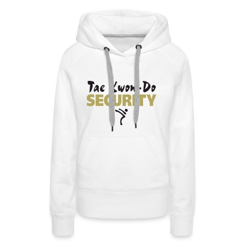 Taekwondo Security black & gold print - Women's Premium Hoodie