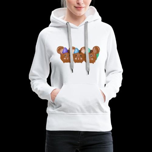 trio souris brunes garcons - Sweat-shirt à capuche Premium pour femmes
