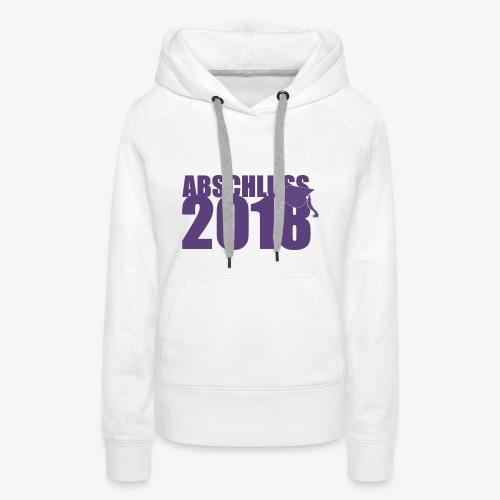 Abschluss 2018 purple - Frauen Premium Hoodie