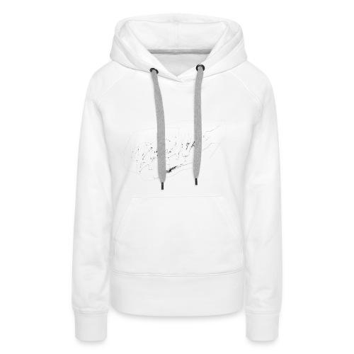 brave white - Sweat-shirt à capuche Premium pour femmes