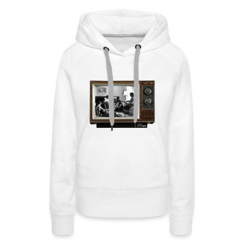 TV @ the TV - Sweat-shirt à capuche Premium pour femmes