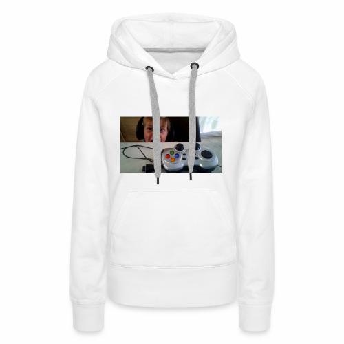 visage stupide de moi - Sweat-shirt à capuche Premium pour femmes