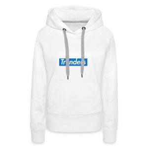 logo oficial trenders grande - Sudadera con capucha premium para mujer