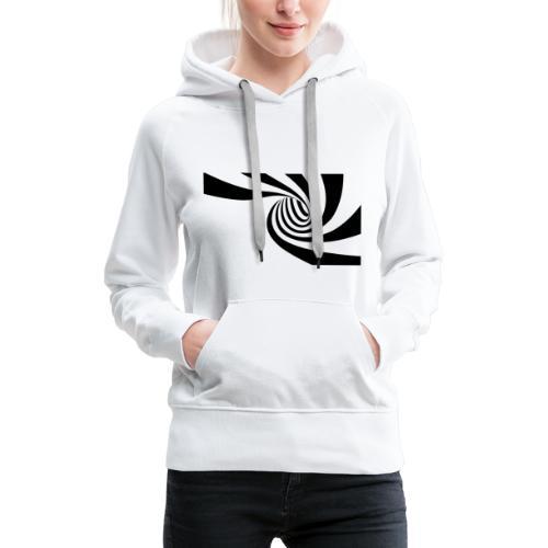 Schwarz - weiße Spirale - Frauen Premium Hoodie