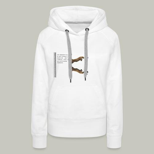 panthère - Sweat-shirt à capuche Premium pour femmes