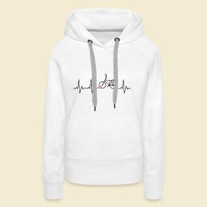 Radball | Heart Monitor Black - Frauen Premium Hoodie