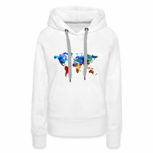 Bunte Welt - Frauen Premium Hoodie
