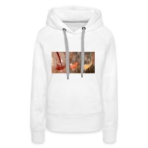 LES 3 VINS 3F - Sweat-shirt à capuche Premium pour femmes