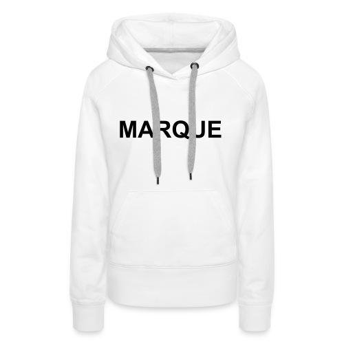 MARQUE - Sweat-shirt à capuche Premium pour femmes