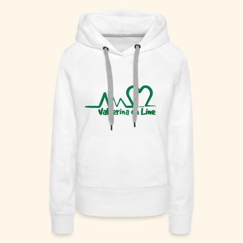 logo verde Associazione Valnerina On line - Felpa con cappuccio premium da donna