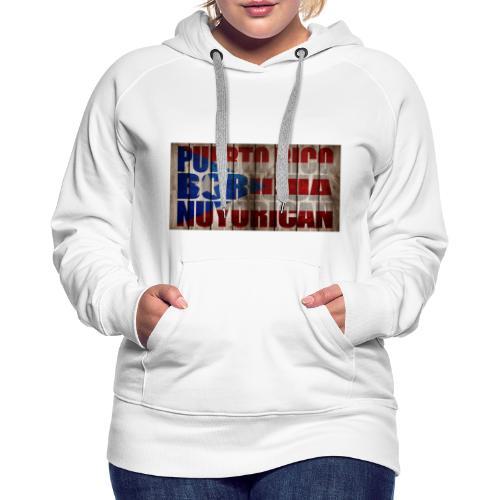 # Salsa Es La Cura Puerto Rico Boricua Nuyorican - Sweat-shirt à capuche Premium pour femmes