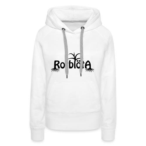 Rotblöta svart logo - Premiumluvtröja dam