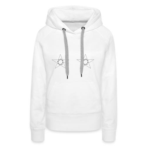 double stars - Sweat-shirt à capuche Premium pour femmes