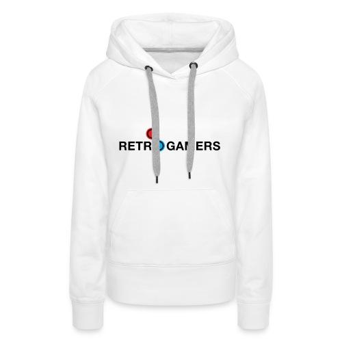 Logo Retrogamers Negro - Sudadera con capucha premium para mujer