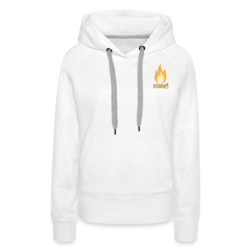 odious flame outlined - Vrouwen Premium hoodie