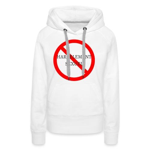 HARCELEMENT SEXUEL - Sweat-shirt à capuche Premium pour femmes