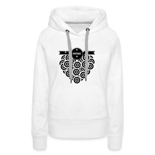 COEUR VINYL VINTAGE - Sweat-shirt à capuche Premium pour femmes