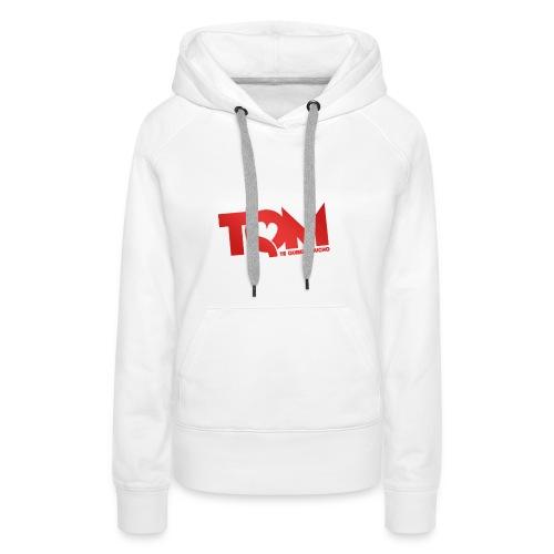 TQM canottiera - Felpa con cappuccio premium da donna