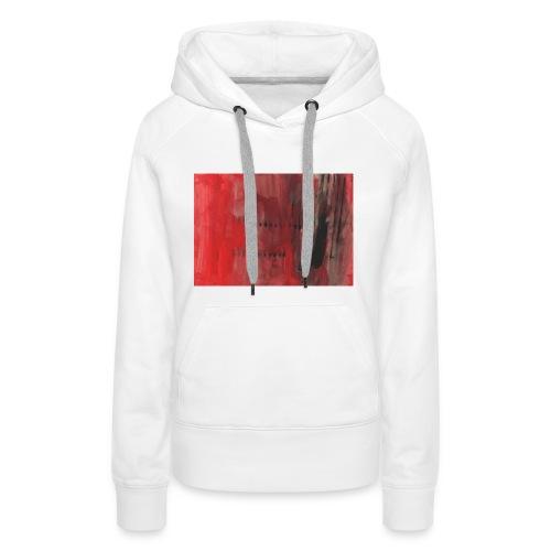 abstrait rouge et noir - Sweat-shirt à capuche Premium pour femmes