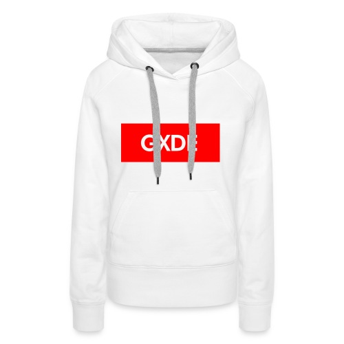 GXDE style Supre_me - Sudadera con capucha premium para mujer