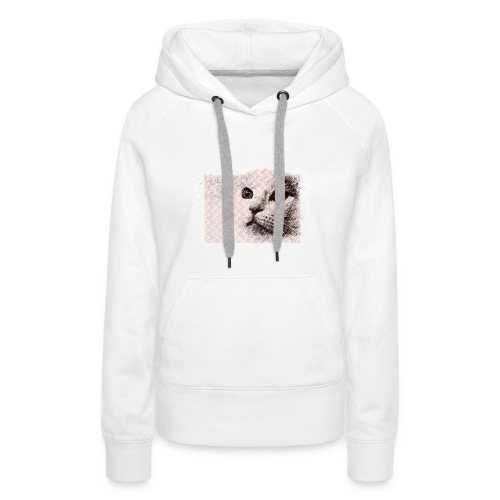 Katze mit Schwingungen - Frauen Premium Hoodie