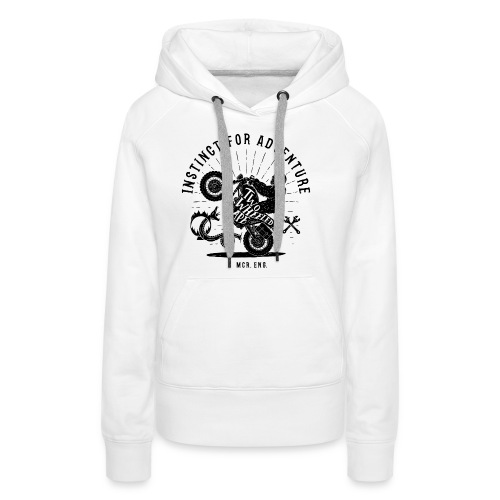 Two Wheeled Ape Wheelie Biker T shirt - Women's Premium Hoodie