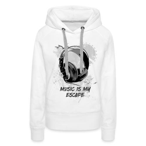 music is my escape - Sweat-shirt à capuche Premium pour femmes