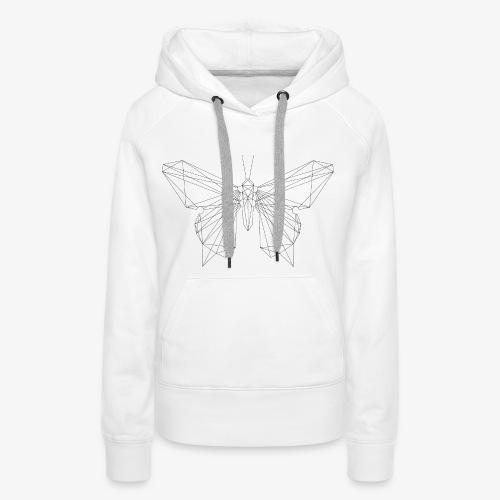 butterfly black. - Frauen Premium Hoodie