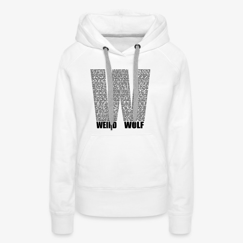 The Big W (Black) - Women's Premium Hoodie