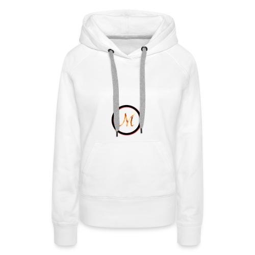 Logo_M - Felpa con cappuccio premium da donna