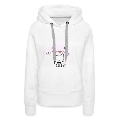 Motif chat - Sweat-shirt à capuche Premium pour femmes