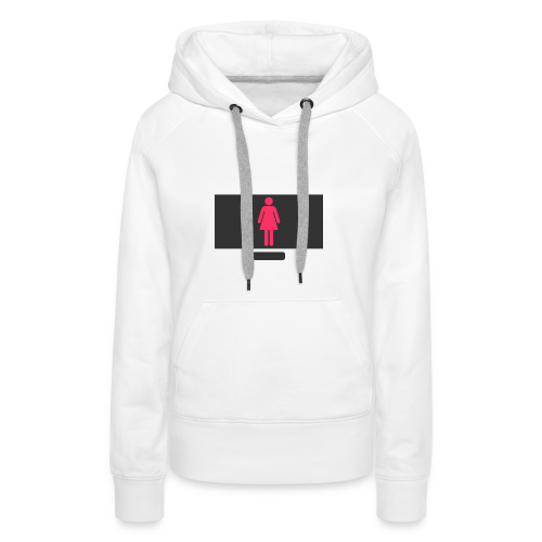 Woman On PC - Women's Premium Hoodie