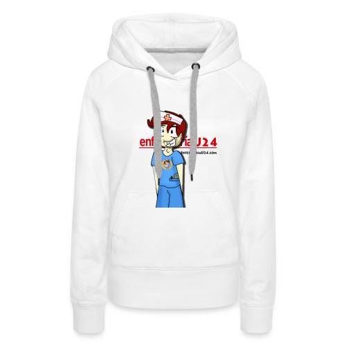 Enfermero Estresado U24 - Sudadera con capucha premium para mujer